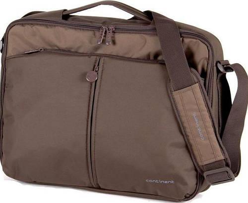 """Удобный портфель с отделением для ноутбука 15,6"""" - 16"""" Continent CC-02Chocolate коричневый"""