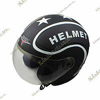 "Мото шлем BLD ""STAR-Helmet""  ¾, Котелок, Круизер, Чоппер, полулицевик"
