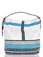 Женская кожаная сумочка Velina Fabbiano 69248 Голубой