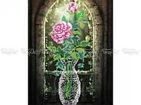 Схема вышивки бисером «Роза в окне» (A3)