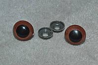 Глаза для игрушек . карие 18 мм
