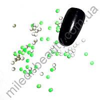 Фигурки металлические - кружочки (2 мм) цвет: салатовый