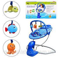 Шезлонг-качалка детский для малышей до года (Арт. S 003)