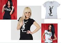 Футболка Бренд D&G, YSL, Chanel
