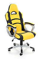 Офисное,компьютерное кресло Racer, желтое
