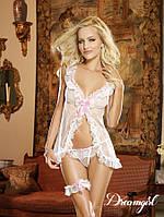 Сексуальное белье для невесты, сорочка, трусики и подвязка