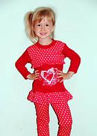 Детская костюм  для девочки бант от 6 мес -10м, 1,2,3.4,5,6,7,8 лет