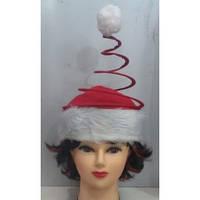 Новогодняя шапка пружина