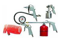 Набор пневмоинструмента, 5 предметов, быстросъемное соед., краскорасп. с нижним бачком  MATRIX 57302