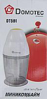 Прибор для измельчения продуктов domotec dt581, работает от сети, пластиковая чаша, 600 мл, венчик, чоппер