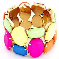 Браслет с разноцветными камнями Амелия