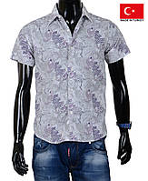 Стильная цветная рубашка с коротким рукавом,Турция