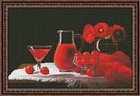 """Набор для вышивания нитками """"Красный натюрморт"""""""