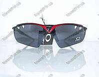 Очки мужские солнцезащитные спортивные Oakley (Окли) - Черно-красные - 9134