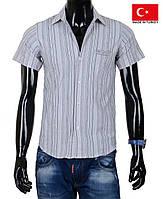 Красивая мужская рубашка с коротким рукавом.
