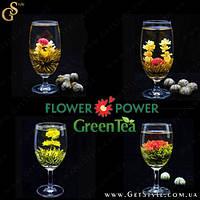 """Зеленый чай-цветок - """"Flower Power"""" - 4 шт. + мешочек!"""
