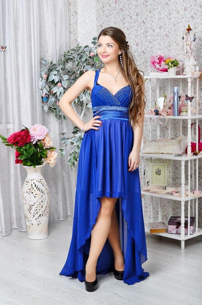 Вечерние Платья Со Стразами Синие