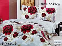 Сатиновое постельное белье полуторка ELWAY 825