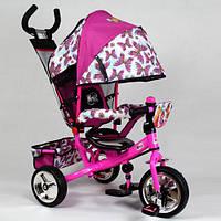 Детский трехколесный велосипед WX 0102 , три колеса EVA Foam розовый, усиленная двойная ручка, Харьков