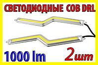 Дневные ходовые огни 18СБZ+к светодиодные лампы DRL ДХО LED COB авто свет фары противотуманки