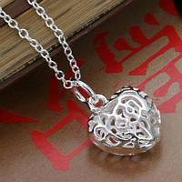 """""""Ювелирное сердце""""  подвеска из стерлингового серебра 925 пр"""