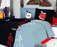 Молодежный комплект постельного белья евроразмера от тм Le Vele