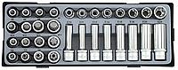 "Набор головок 1/2"",E-тип, TORX, SPLINE 32 пр.  FORCE T4322."