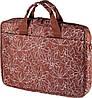 """Женская надежная сумка для ноутбука 15"""" - 15,6"""" Continent CC-032 Brownprints коричневый"""