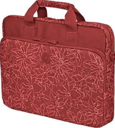 """Женская красивая сумка для ноутбука 15"""" - 15,6"""" Continent CC-032 Redprints красный"""