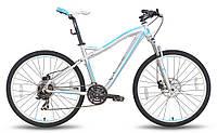 """Велосипед 26'' PRIDE BIANCA Disc рама - 16"""" серо-бирюзовый матовый 2015"""