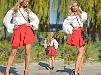 """Модная женская юбка """" СОЛНЦЕ"""" красный"""