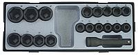"""Набор головок 1/2"""" ударных 6-гранных 19 пр. (10-32 ММ) FORCE T4193."""
