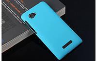 Пластиковый чехол для Lenovo A880 голубой