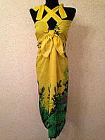 Желтый сарафан для пляжа 958 (цв.33-2)