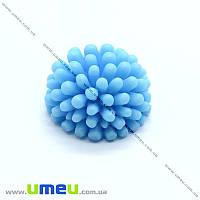 Кабошон из полимерной глины Цветок голубой, 12 мм, 1 шт (KAB-011722)