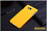 Пластиковый чехол для Samsung Galaxy Alpha G850F желтый