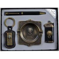 Подарочный набор Moongrass Зажигалка, ручка, брелок, пепельница YJ6361