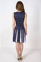 Платье в горох с белыми клиньями KR-SS14/16r