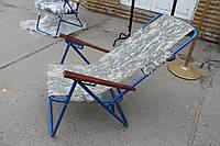 """Кресло раскладное """"Пикник"""" серый камуфляж, производство Украина"""