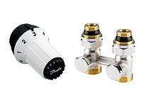 Комплект: термоголовка RAS-C + прямой запорный Н-образный клапан RLV-KS