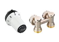 Комплект: термоголовка RAS-CK + угловой запорный Н-образный клапан RLV-KS