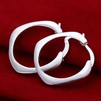 Нежные  сережки кольца из стерлингового серебра 925 пр.
