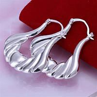 Красивые  сережки  из стерлингового серебра 925 пр.