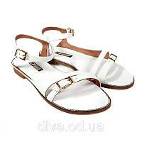 Модные босоножки женские кожаные Арт.4003white купить босоножки Украина