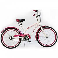 Велосипед детский для девочки двухколесный розовый Cruiser 20 дюймов на 5,6,7,8, 9 лет