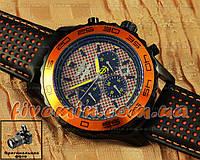 Наручные часы Breitling Navitimer Cosmonaute Black Orange Leather механика с автоподзаводом