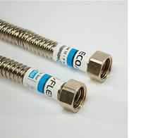 Гибкий гофрированный шланг для воды из нержавеющей стали ECOFLEX 1/2 120 см г.г.