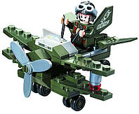 Конструктор BRICK 804 самолёт-разведчик, 50 дет, в кор-ке, 14-9-4,5см