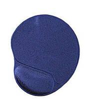 Коврик для мыши MP-GEL Материя с гелевой подставкой для кисти; синий
