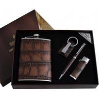 Подарочный набор Moongrass Фляга, брелок, ручка, зажигалка AL001